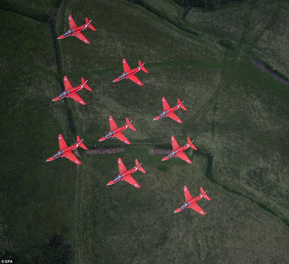 For the first time since the 2012 Olympics, the Red Arrows will conduct a flypast over the four capital cities of England, Northern Ireland, Scotland and Wales.