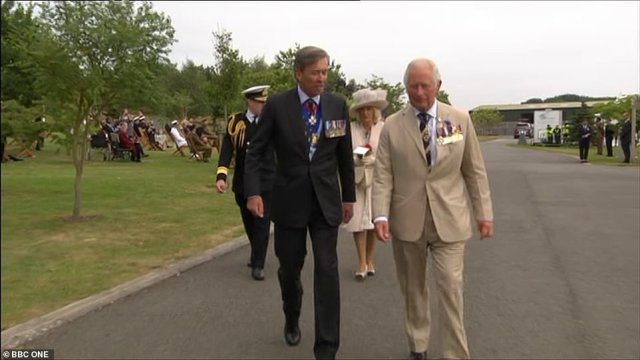 The Royal Family and Boris Johnson today joined Second World War veterans to mark 75 years since the end of the war