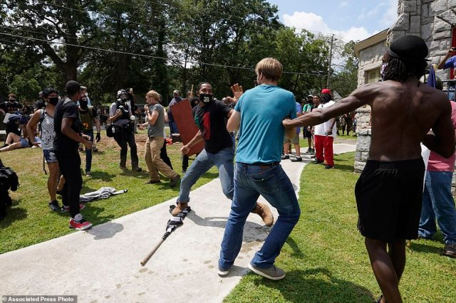 State and city officials braced for a violence ahead of the rally on Friday, closing Stone Mountain Park, where event organizers initially intended to hold the event