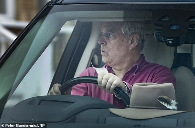 Andrew – who was seen yesterday whistling nonchalantly as he drove out of Windsor Castle – has vehemently and repeatedly denied Ms Roberts's accusations and any suggestion of wrongdoing