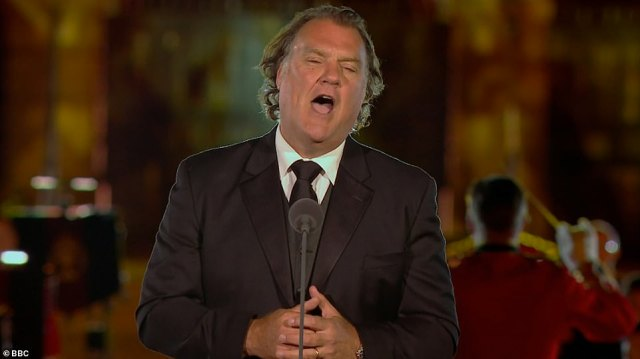 Star performer:Sir Bryn Terfel also wowed audiences with his version of Homeward Bound