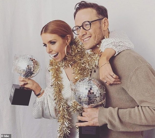Big money:The broadcaster, 33, saw her earnings rise to £350,000, according to accounts obtained by The Sunday Mirror (pictured after winning Strictly with Kevin Clifton in 2018)