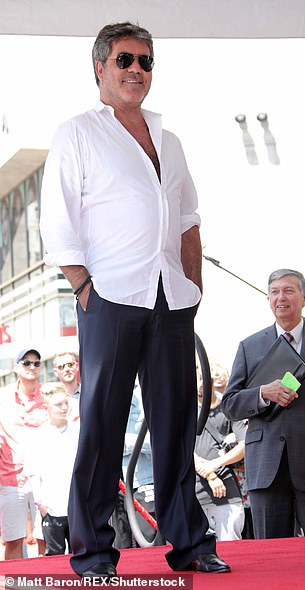 Health: Britain's Got Talent judge has had a significantly slimmer physique in recent months since changing his diet (pictured in August 2018)