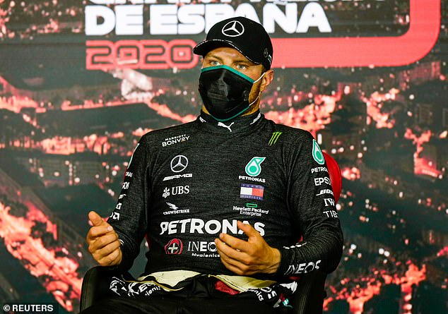 Mercedes' new-for-2020 suits did not sit well for Valtteri Bottas due to Spain's scorching heat