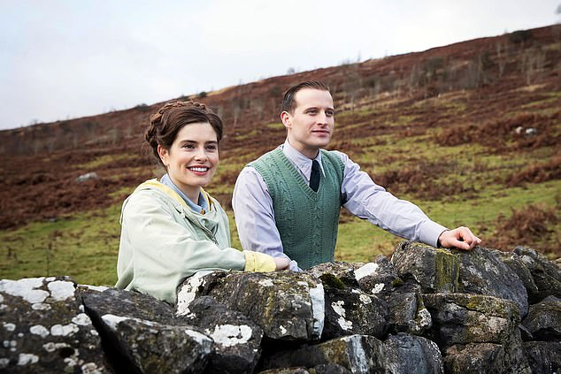 Romance: Rachel will play Helen Alderson on the upcoming show All Creatures Great and Small - Nicholas Ralph's love interest as James Herriot (pictured together)