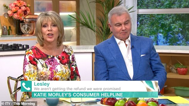 Gaffe: Ruth Langsford was forced to say sorry to This Morning viewers on Monday's live show, after their studio guest was insulted on the air