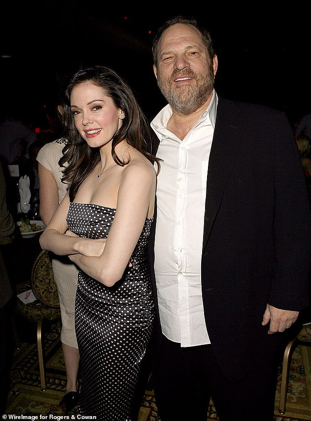 #MeToo movement: McGowan, 46, who was one of the leading activists of the global movement and accused Harvey Weinstein of sexually assaulting her in the 1990s, has now shared that she is 'in a good place' following his conviction (pictured together in 2007)