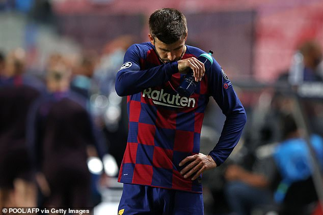 His list of players who would not be sold did not include that of club legend Gerard Pique