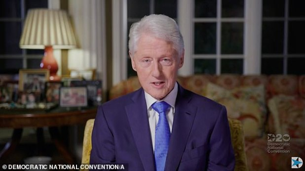 Bill Clinton addressed the Democratic National Convention on the second night Tuesday