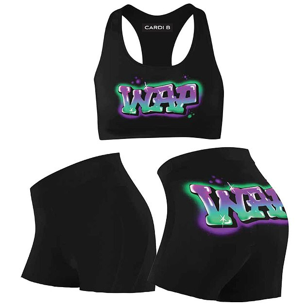 Social: The 27-year-old, born in the Bronx, took to Instagram to make the announcement, saying: 'My official WAP Merch collection is available NOW!  Click the link in my bio to shop