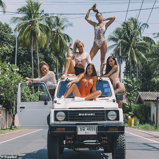 With links to global fast fashion companies like Pretty Little Thing and Missguided, the team is hoping to lure tourists back to Australia as soon as the COVID crisis is over - and they're using creative photoshoots and Australian models to do it