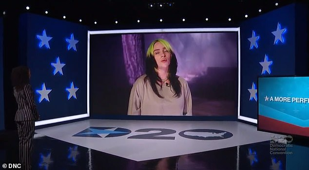 'It's vitally important right now to speak up': Eilish revealed on Monday why she debuted her song My Future at the Democratic National Convention on August 19
