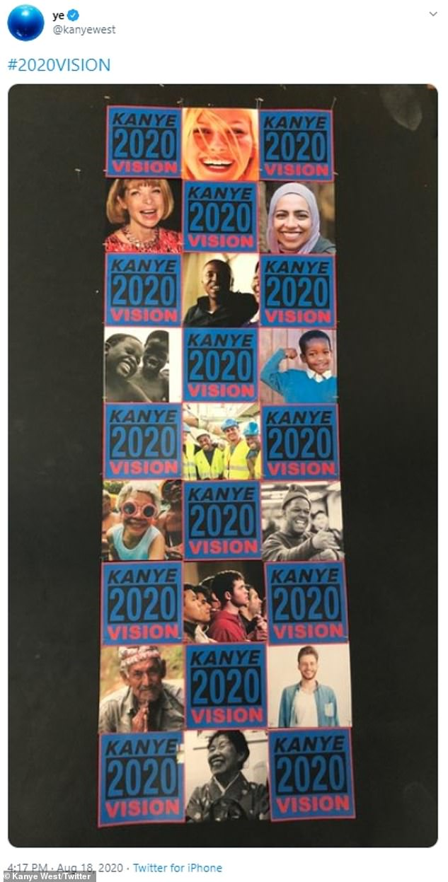 2020 Vision: The 43-year-old rapper uploaded what appeared to be a 2020 Vision banner to his Twitter on Tuesday with no explanation