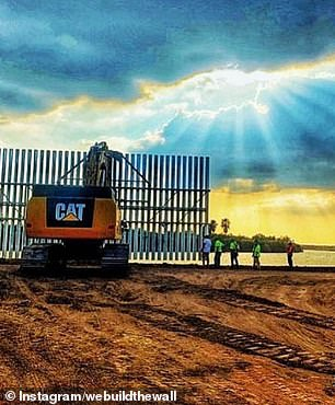 The group 'We Build the Wall' raised money for construction of this portion of the wall, promoting updates on its social media pages