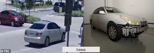 According to a complaint, Ryan stated that Cave met him at a gas station in Hollywood on July 25 before going to the beach with the toddler in Ryan's Gold Lexus (picture).