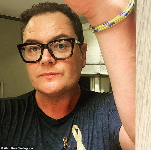 Looking good: Alan Carr's weight loss has drawn the attention of his fans after he was inspired by his close pal Adele shedding seven stone
