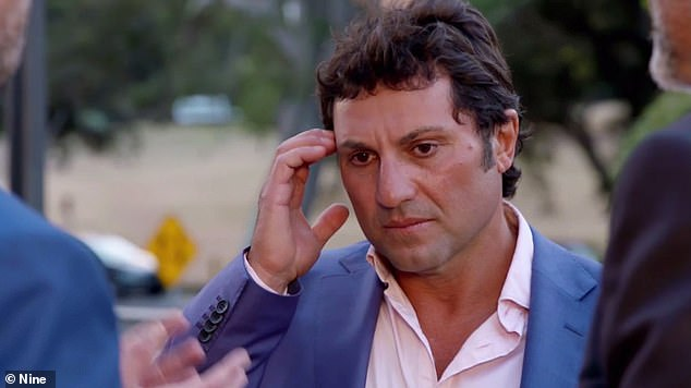 Rise to fame: Nasser starred in the 2018 season of Married At First Sight. He was 'wed' Gabrielle Bartlett, but they called it quits before the finale. Pictured on the show