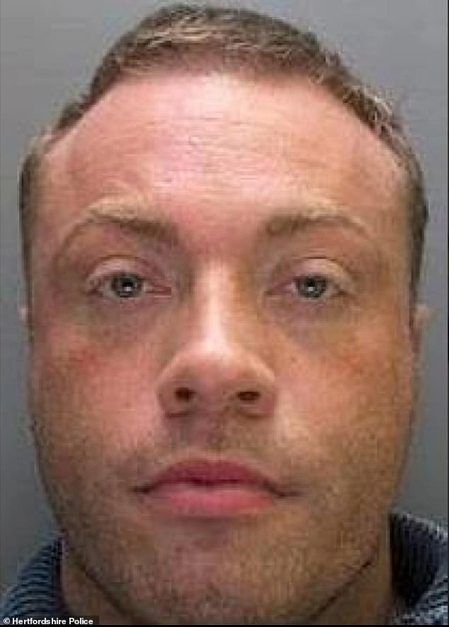 Imprisoned: Stantiford (pictured in his police snapshot) pleaded guilty to conspiring to supply Class A drugs and was sentenced to eight years in prison in 2016