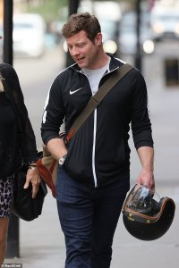 Downcast Dermot O'Leary is pictured for the first time since revealing his wedding ring was stolen