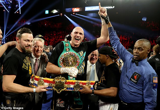 Fury took the WBC heavyweight title following his win after seven rounds against Wilder