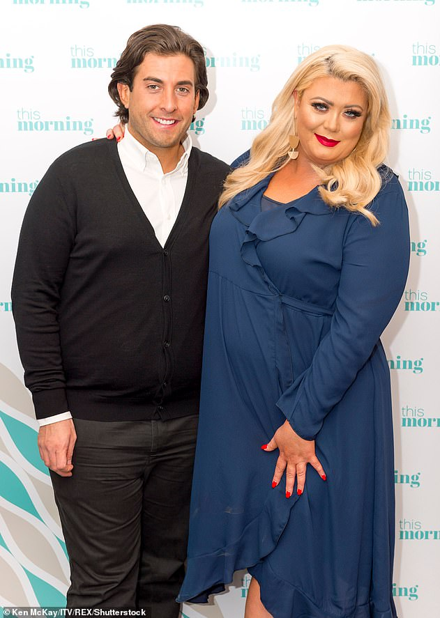 Bitter ending: Things for James haven't been so promising in the romance department as he broke up with partner Gemma Collins, 39, last month (pictured in 2018)