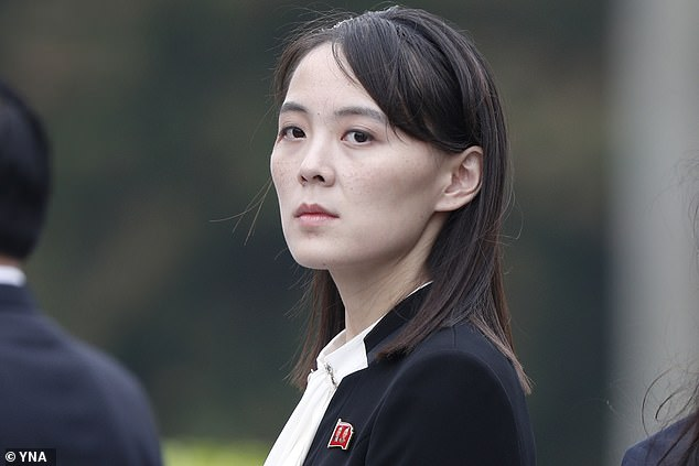 Kim Yo-jong, 33 (pictured above) is in a privileged position to take back some of her brother's powers, according to Chang Song-min
