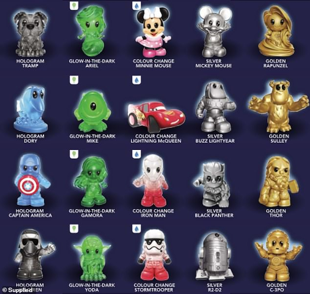 Australian shoppers can start collecting the themed figurines from Disney, Pixar, Marvel and Star Wars movies with every $30 spent in store or online from Wednesday, August 26