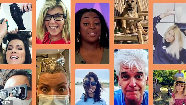 Lockdown fun: ITV's top ladies joined fellow presenters in a promotional video before returning to screens on September 1 amid the coronavirus pandemic