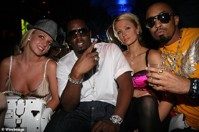 """""""It breaks my heart"""": """"It's not fair to be an adult and to be treated like a child.  I can't imagine having to live my life like this, """"said Paris;  shown with Sean Combs and Dallas Austin in 2007"""
