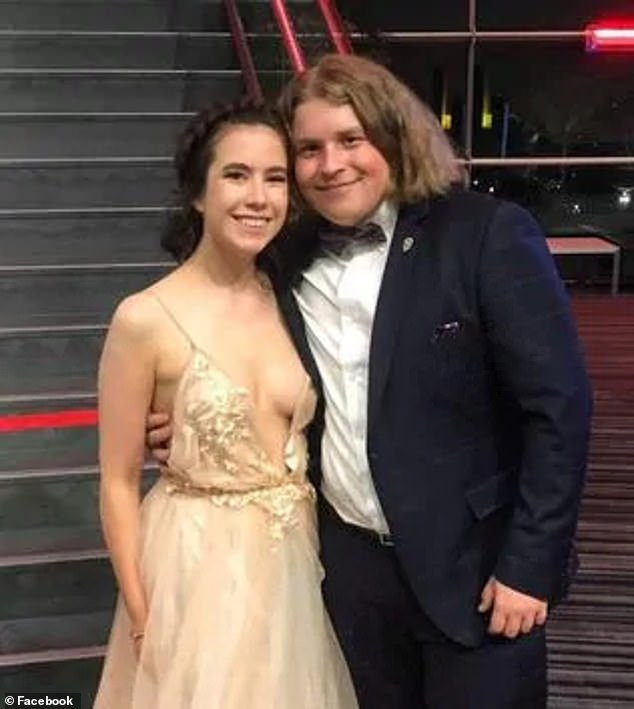 Lukasz Kłosowski and his girlfriend Chelsea Ireland, (pictured together) both aged 19, were allegedly gunned down at a remote farm in Mount McIntyre in South Australia's south-east in late August