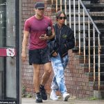 Joey Essex walks hand-in-hand with new girlfriend Brenda Santos before packing on the PDA