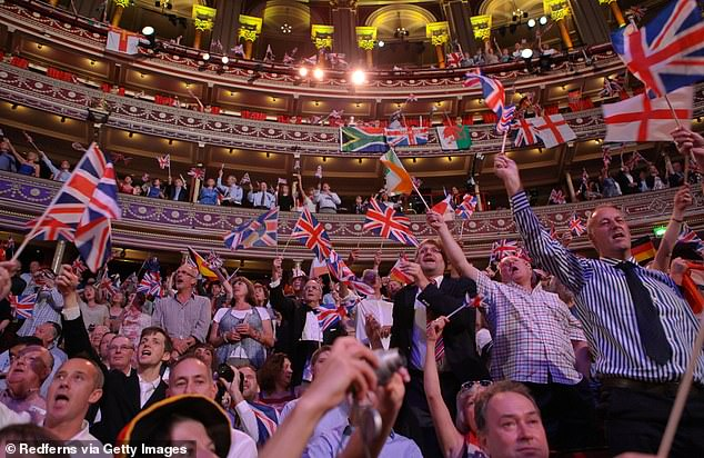 The BBC sparked a new row after announcing traditional favorites such as Land Of Hope And Glory would be performed without words at the Proms (pictured in 2012)