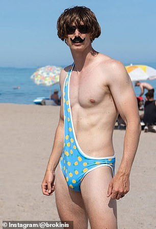 'It's not the ideal summer to be launching given COVID, but Brokinis might be a great way to keep people six feet away from you,' he added