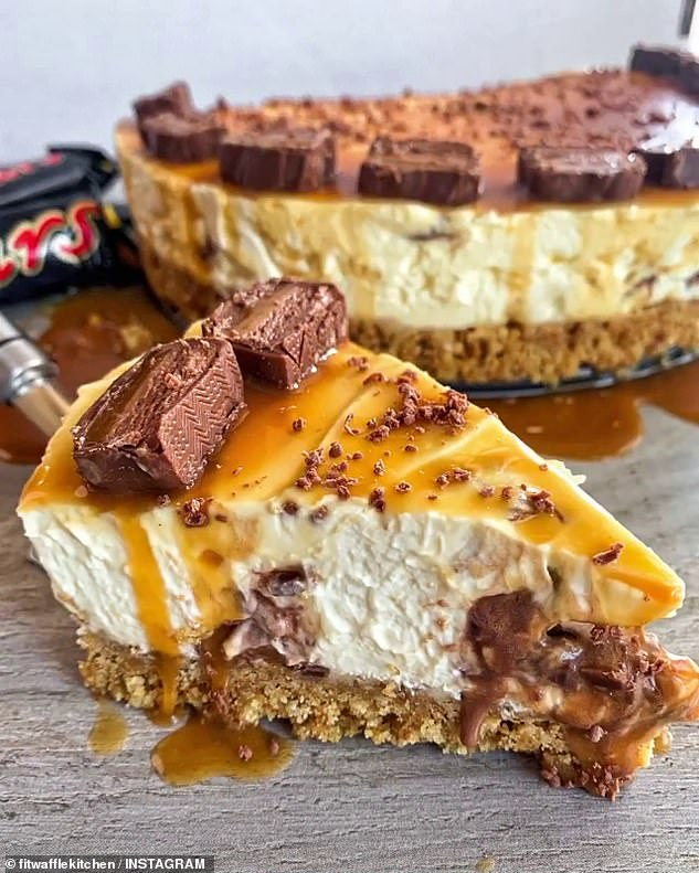 London baker Eloise Head's mouthwatering Mars bar cheesecake made from seven simple ingredients