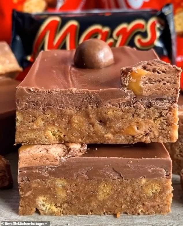 London baker Eloise Head's Mars and Malteser slices, made without turning on an oven