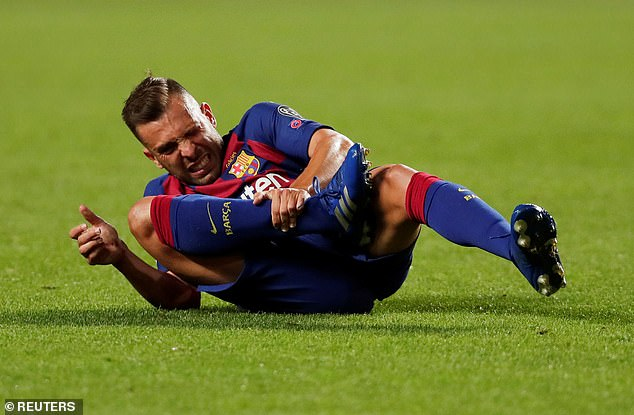 Left-back Jordi Alba's long contract may have saved him from smelling Koeman's ax