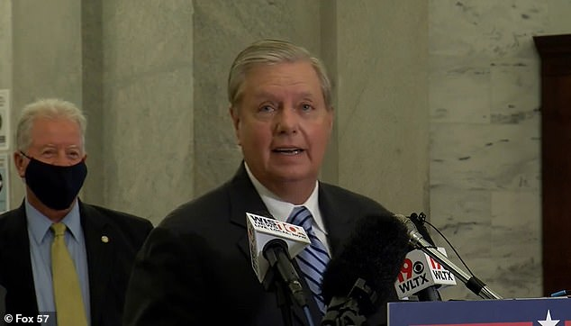 South Carolina Senator Lindsey Graham said Tuesday that Jacob Blake, the man who was shot seven times by police on Sunday, should have 'yielded' to law enforcement when he was told to do so