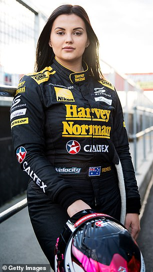 Throwback photos of Renee as a Supercars driver show the brunette wearing minimal makeup, and with her now-famous curves hidden beneath baggy racing attire. Pictured in October 2016