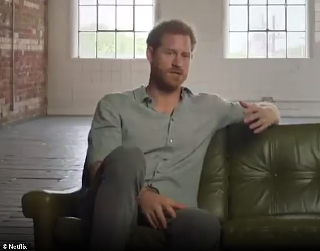 The Duke (pictured in a new Netflix documentary on the Paralympic Games), 35, and Duchess of Sussex, 39, 'explore other avenues' as their public speaking is 'suspended' , an insider told Katie Nicholl for Vanity Fair