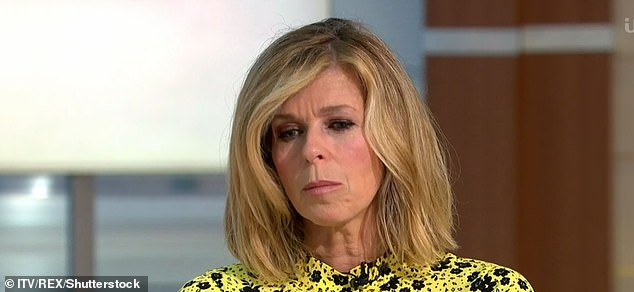 Kate made an emotional return to Good Morning Britain in July.'I very consciously didn't want to talk too much on air about the sadness of Derek. I don't want to bring anybody down; my job is to cheer people up. But it's a balance...'