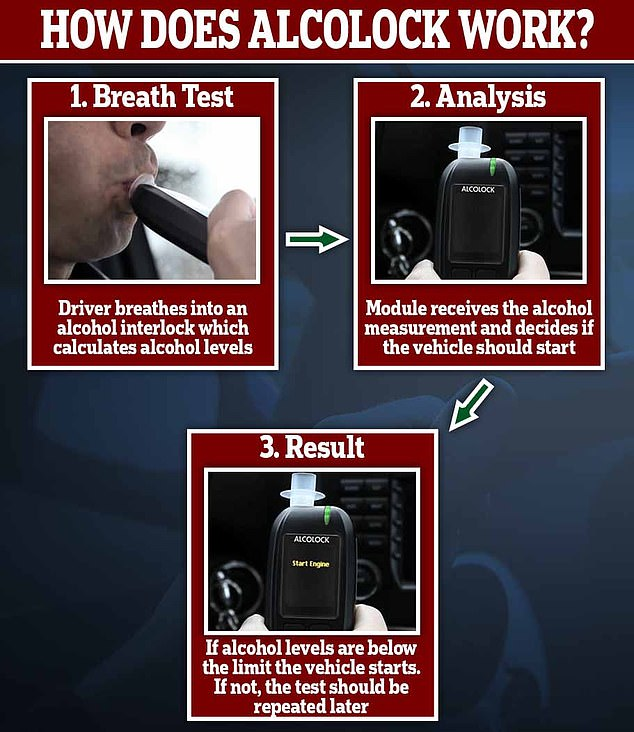 Locked out: Alcolocks, which force previously-convicted drink drivers to pass a breath test before they drive, should be introduced 'as soon as possible', says PACTS