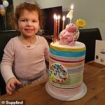 An entire street in Melbourne's lockdown comes together to surprise a little girl on her birthday