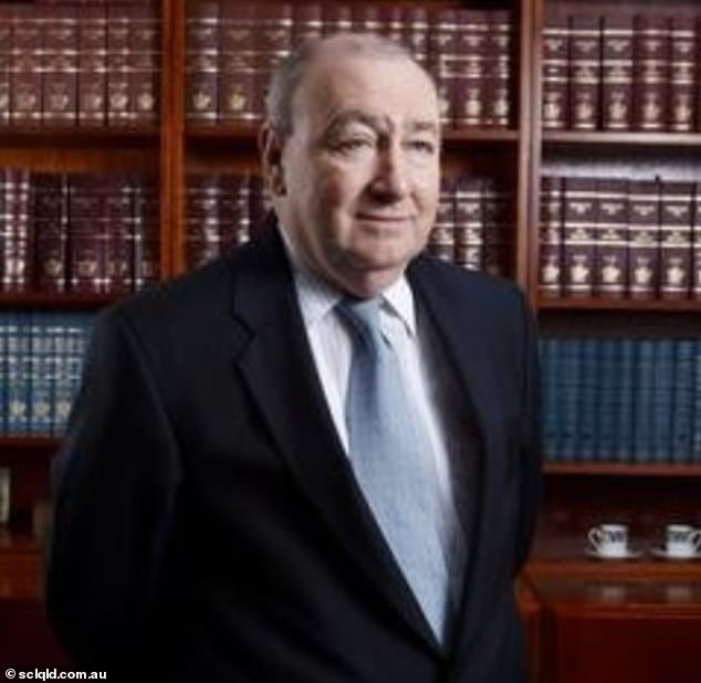 Therese Ryan attempted to claim $2.36million from Brian Harrison's (pictured) estate following the death of the Cairns District Court judge in October last year