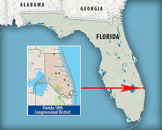 Florida's 18th District has been the playground of politicians involved in illicit sex scandals and violence for two decades. It stretches along the Atlantic Ocean coastline from the northern part of affluent Palm Beach County to impoverished Fort Pierce 70 miles north