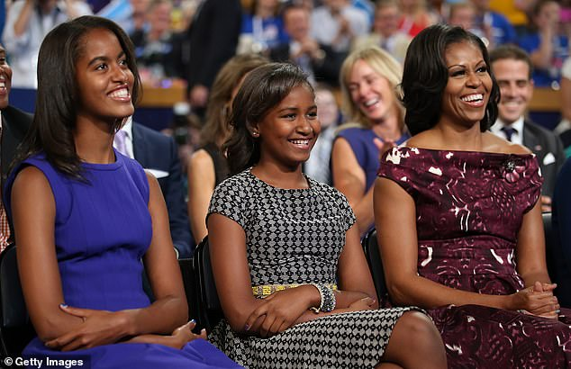 Remember: Previously, Michelle recalled a time she went out for ice cream with her daughters and was dressed incognito ¿ and a woman cut them at an ice cream shop and didn't apologize