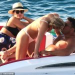 Retired football legend Ronaldo packs on the PDA with girlfriend Celina