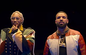 Nods:Future and Drake in their video for Life Is Good