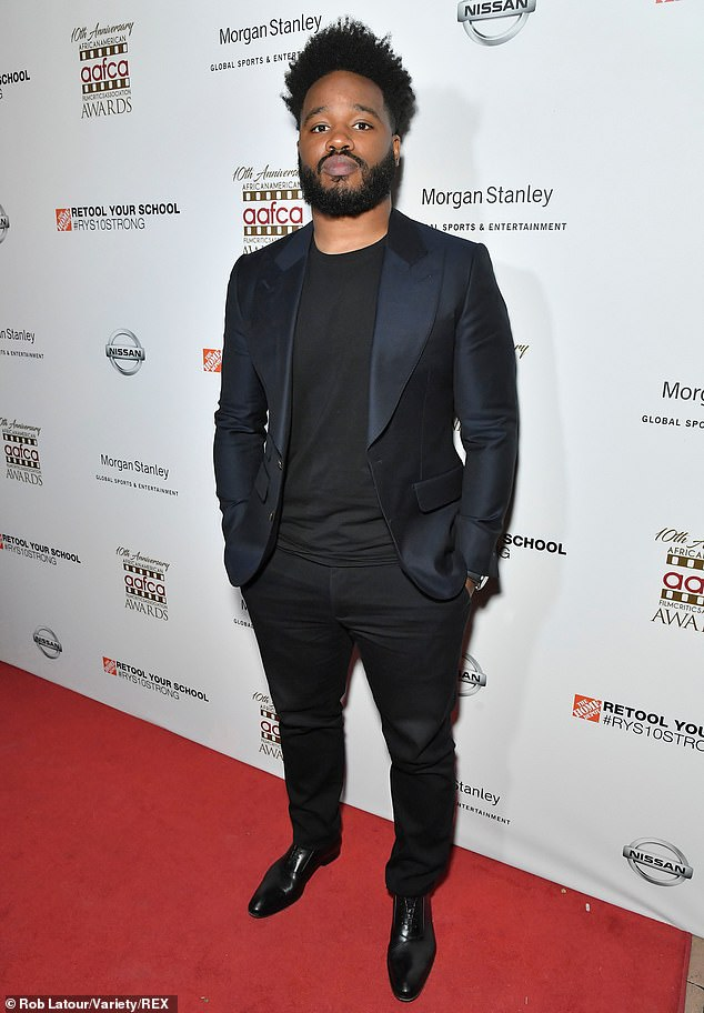 Presence: 'He was calm. Assured. Constantly studying,' Coogler wrote. 'But also kind, comforting, had the warmest laugh in the world...' shown in 2019