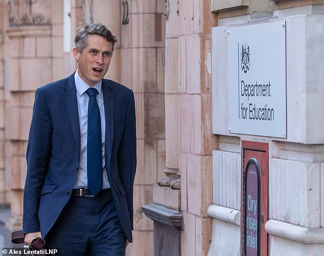Under-threat Education Secretary Gavin Williamson (above) has staked his future on the full return of schools, after overseeing the exams fiasco that unfairly graded thousands