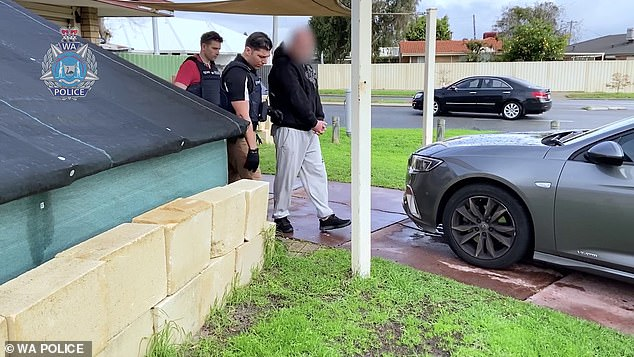 At least 11 people have been arrested (pictured) after WA Police launched a four-month-long investigation into an alleged paedophile ring grooming teenagers through social media